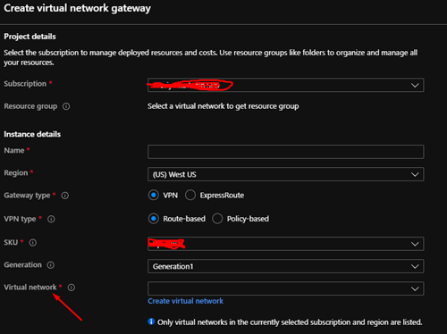 A gateway creates a public endpoint to connect to the VNET